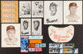 Baseball Collectibles:Others, Milwaukee and Atlanta Braves Tickets, Photographs, Etc. Lot of100+....