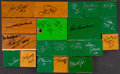 Basketball Collectibles:Others, Boston Celtics Legends Signed Pieces of the Boston Garden ParquetFloor Lot of 20....