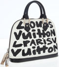 Luxury Accessories:Bags, Louis Vuitton by Stephen Sprouse Black & White Leather Graffiti Alma Bag. ...