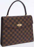 Luxury Accessories:Bags, Louis Vuitton Damier Ebene Canvas Malesherbes Top Handle Bag . ...