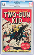 Golden Age (1938-1955):Western, Two-Gun Kid #1 (Marvel, 1948) CGC VF- 7.5 White pages....
