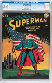 Superman #24 (DC, 1943) CGC VF 8.0 Off-white to white pages