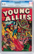 Golden Age (1938-1955):Superhero, Young Allies Comics #9 (Timely, 1943) CGC VF 8.0 Off-white to white pages....