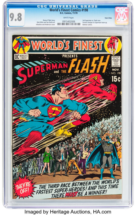 World's Finest Comics #198 Twin Cities pedigree (DC, 1970) CGC NM/MT 9.8 White pages....