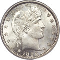 Barber Quarters, 1896-S 25C MS64 PCGS....