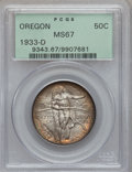 Commemorative Silver, 1933-D 50C Oregon MS67 PCGS. FS-801....