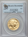 Modern Bullion Coins, 2008-W $25 Half-Ounce Gold Buffalo MS70 PCGS....