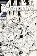 "Original Comic Art:Covers, Walt Simonson and Joe Rubinstein X-Factor #1 ""The Return ofJean Grey"" Cover Original Art (Marvel, 1986)...."