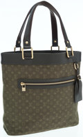 Luxury Accessories:Bags, Louis Vuitton Khaki Mini Lin Monogram Canvas Lucille GM Tote Bag ....