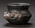 Pre-Columbian:Ceramics, A MAYA BLACKWARE VESSEL IN THE FORM OF A FROG. c. 600 - 900 AD...