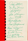Baseball Collectibles:Others, 1947 Boston Red Sox Team Signed Autograph Pamphlet....