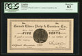 Canadian Currency: , Grand River, NL- Grand River Pulp & Lumber Co. 5¢ Undated circa1900 Ch. # UNL. ...