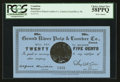 Canadian Currency: , Grand River, NL- Grand River Pulp & Lumber Co. 25¢ Undatedcirca 1900 Ch. # UNL. ...