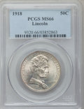Commemorative Silver: , 1918 50C Lincoln MS66 PCGS. PCGS Population (501/95). NGC Census:(280/70). Mintage: 100,058. ...