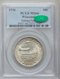 Commemorative Silver: , 1936 50C Wisconsin MS66 PCGS. CAC. Ex: Guttag Family. PCGSPopulation (1527/451). NGC Census: (1233/378). Mintage: 25,015. ...