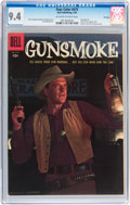 Golden Age (1938-1955):Western, Four Color #679 Gunsmoke - File Copy (Dell, 1956) CGC NM 9.4Off-white to white pages....