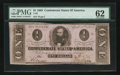 Confederate Notes:1863 Issues, T62 $1 1863 PF-1 State II Cr. 474.. ...