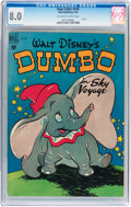 Golden Age (1938-1955):Cartoon Character, Four Color #234 Dumbo (Dell, 1949) CGC VF 8.0 Off-white to whitepages....