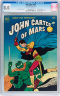 Golden Age (1938-1955):Science Fiction, Four Color #375 John Carter of Mars (Dell, 1952) CGC VF 8.0Off-white to white pages....