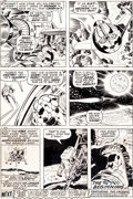 Original Comic Art:Panel Pages, Jack Kirby and Joe Sinnott Fantastic Four #98 Apollo 11 MoonLanding Page 20 Original Art (Marvel, 1970)....