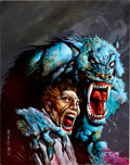 "Original Comic Art:Covers, Simon Bisley PC Gamer ""Ecstatica"" Werewolf and Victim CoverIllustration Original Art (1995)...."