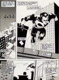 Original Comic Art:Splash Pages, Mike Zeck and John Beatty The Punisher #4 Splash Page 1Original Art (Marvel, 1986)....