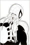 "Original Comic Art:Covers, John Romita Sr. Webspinners: Tales of Spider-Man #1C Peter Parker and Gwen Stacy ""The Kiss"" Cover Original Art (Ma... (Total: 2 Items)"