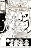 Original Comic Art:Covers, Marshall Rogers and Joe Rubinstein Silver Surfer #1 Cover Original Art (Marvel, 1987)....