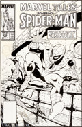 Original Comic Art:Covers, Mike Zeck Marvel Tales #210 Spider-Man vs. Tarantula CoverOriginal Art (Marvel, 1988)....