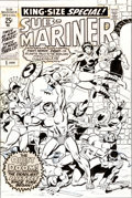 Original Comic Art:Covers, Sal Buscema Sub-Mariner Annual #1 Warlord Krang CoverOriginal Art (Marvel, 1971).... (Total: 2 Items)