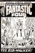 Original Comic Art:Covers, John Buscema and Frank Giacoia Fantastic Four #120 FirstAir-Walker Cover Original Art (Marvel, 1972)....