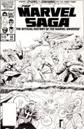 Original Comic Art:Covers, Keith Pollard and Al Williamson The Marvel Saga #16 Avengersvs. X-Men/Doctor Strange vs. Dormammu Original Art (M...