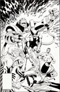 Original Comic Art:Covers, Marc Silvestri and Dan Green Apocalypse and Wolverine vs.X-Force Cover Original Art (Marvel, undated)....