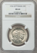 Commemorative Silver: , 1936 50C Gettysburg MS64 NGC. NGC Census: (1197/1624). PCGSPopulation (1977/2303). Mintage: 26,928. Numismedia Wsl. Price ...