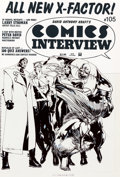 Original Comic Art:Covers, Larry Stroman Comics Interview #105 X-Factor Original Art Cover (Fictioneer Publications, 1991)....