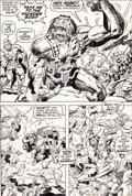 Original Comic Art:Panel Pages, Jack Kirby and Bill Everett Thor #173 Ulik Vs. The Circus ofCrime Page 6 Original Art (Marvel, 1970)....