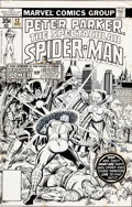 Original Comic Art:Covers, Al Milgrom and Terry Austin Spectacular Spider-Man #12 CoverOriginal Art (Marvel, 1977)....