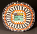 American Indian Art:Baskets, A HOPI PICTORIAL POLYCHROME PLAQUE...