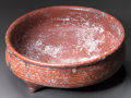 Pre-Columbian:Ceramics, A LARGE RED CHUPICUARO BOWL. c. 200 BC - 200 AD...