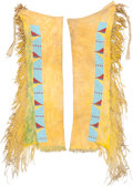 American Indian Art:Beadwork and Quillwork, A PAIR OF SOUTHERN CHEYENNE BEADED HIDE LEGGINGS. c. 1890...
