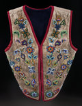 American Indian Art:Beadwork and Quillwork, A CROW BEADED HIDE VEST. c. 1900...