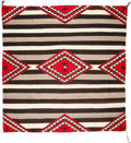 Other, A NAVAJO CHIEF'S STYLE BLANKET. c. 1940...