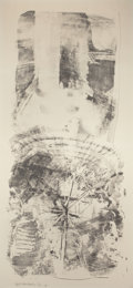 Prints, ROBERT RAUSCHENBERG (American, 1925-2008). Waves (from Stoned Moon Series), 1969. Lithograph in colors. 89 x 42 inches (...