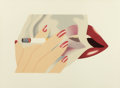 Post-War & Contemporary:Pop, TOM WESSELMANN (American, 1931-2004). Smoker, 1976. Colorlithograph and embossing. 14-1/2 x 23 inches (36.8 x 58.4 cm)...