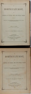 Books:Natural History Books & Prints, P. Barry [editor]. Group of Two Collected Volumes of The Horticulturist. Vick, 1853-1854. First edition, first print... (Total: 2 Items)