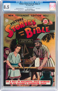 Golden Age (1938-1955):Religious, Picture Stories from the Bible #1 New Testament (DC, 1944) CGC VF+8.5 Off-white to white pages....