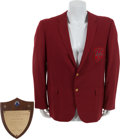 Golf Collectibles:Miscellaneous, 1969 Ryder Cup Captain's Jacket Owned and Worn by Sam Snead withPresentational Plaque....