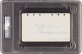 Autographs:Others, 1929 Lefty Grove Signed & Notated Album Page....