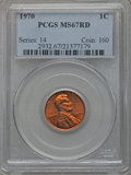Lincoln Cents: , 1970 1C MS67 Red PCGS. PCGS Population (37/0). NGC Census: (0/0).Numismedia Wsl. Price for problem free NGC/PCGS coin in ...