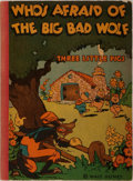 Books:Children's Books, [Walt Disney]. Who's Afraid of the Big Bad Wolf. McKay,1933. Publisher's quarter cloth and stiff pictorial covers. ...